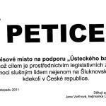 """Petice na podporu """"Ústeckého balíčku"""""""