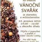 Pozvánka na Vánoční svařák 2012