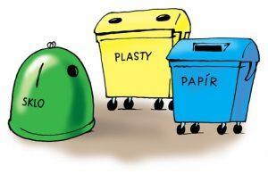 Kontejnery - tříděný odpad