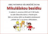 Mikulášská besídka 2015