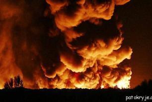 Požár skládky Celio u Litvínova